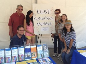The UCI Special Collections and Archives team at OC Pride. We had a great time!