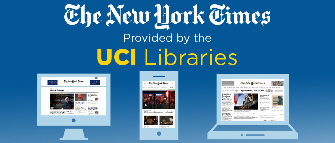 NYTimes and UCI Libraries