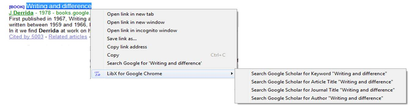Right-Click Menu