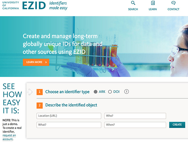 EZID Identifiers made easy