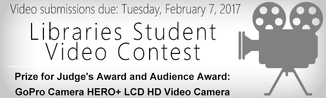 Libraries Student Video Contest Banner