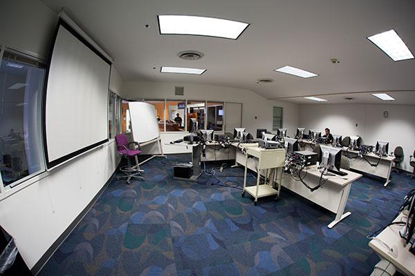 Multimedia resources center classroom